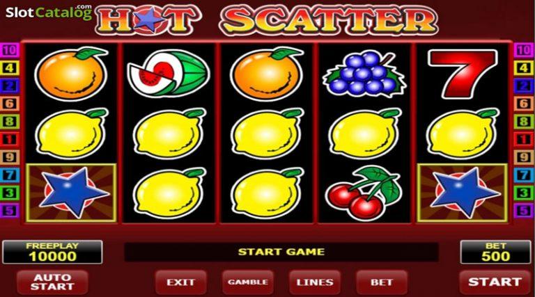 Видеослот Горячий Скаттер – классический фруктовый игровой автомат